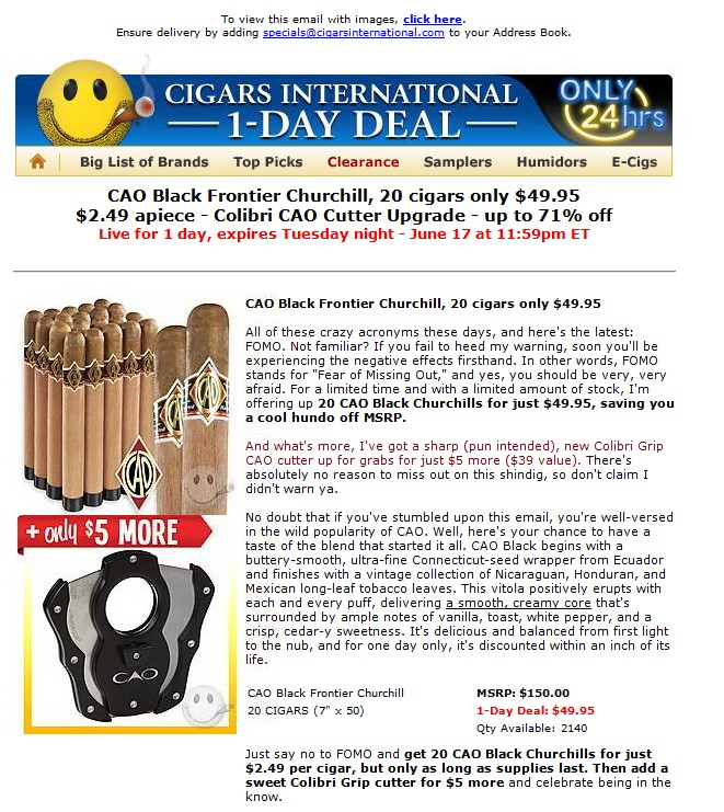 CAO Black Email
